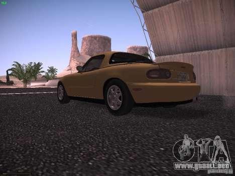 Mazda MX-5 1997 para GTA San Andreas vista posterior izquierda