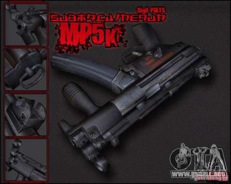 MP5K para GTA San Andreas segunda pantalla