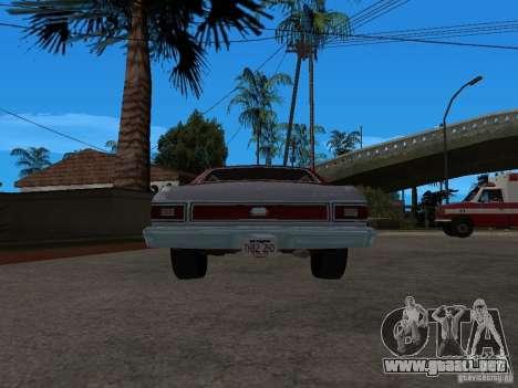 Ford Gran Torino 1976 para GTA San Andreas vista posterior izquierda