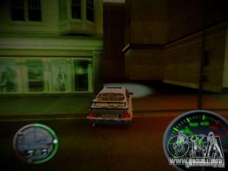 Velocímetro de Centrale v2 para GTA San Andreas sucesivamente de pantalla