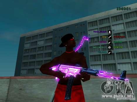 Cromo morado sobre armas para GTA San Andreas sucesivamente de pantalla