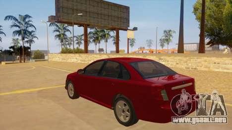 Buick Excelle para GTA San Andreas vista posterior izquierda