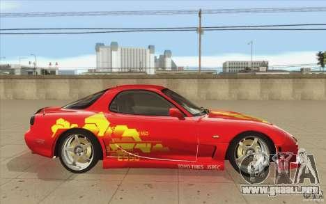 Mazda RX-7 - FnF2 para visión interna GTA San Andreas