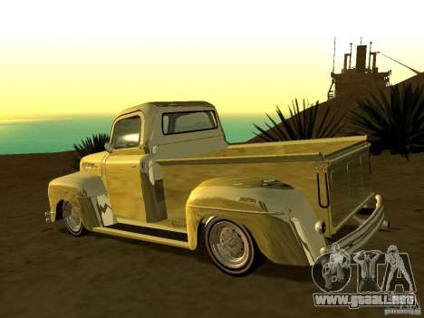 Ford Pick Up Custom 1951 LowRider para GTA San Andreas left