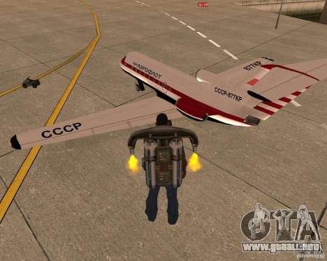 El avión Yak-40 para GTA San Andreas left