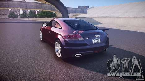 Audi TT RS v3.0 2010 para GTA 4 Vista posterior izquierda