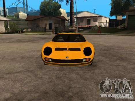 Lamborghini Miura para GTA San Andreas vista hacia atrás