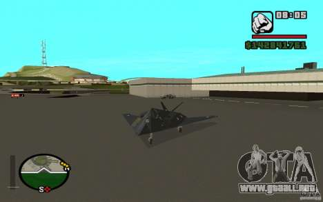 Lockheed F-117A Nighthawk para GTA San Andreas left