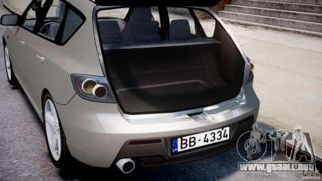 Mazda 3 2004 para GTA 4 vista desde abajo