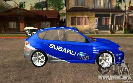 Nuevos vinilos para Subaru Impreza WRX STi para GTA San Andreas vista hacia atrás