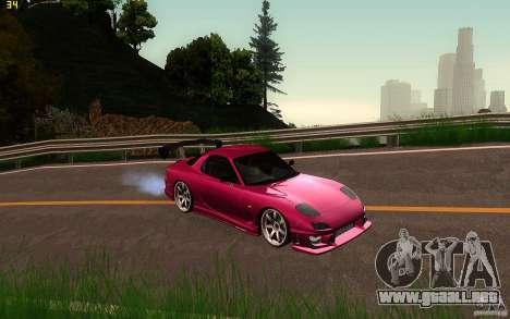 Mazda Rx7 C-West para GTA San Andreas vista hacia atrás
