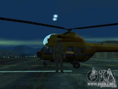 Policía mi-2 para visión interna GTA San Andreas