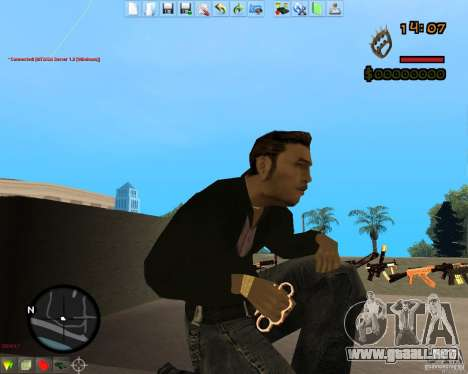 Smalls Chrome Gold Guns Pack para GTA San Andreas tercera pantalla