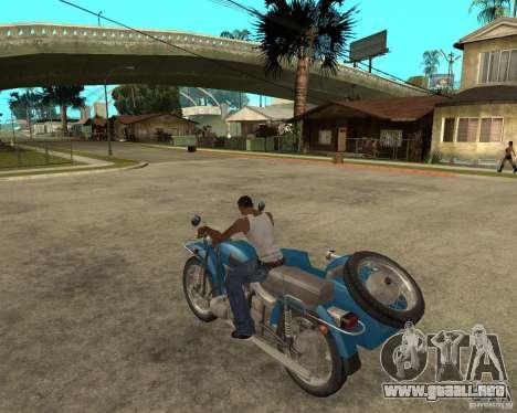 Sidecar Ural de turista para GTA San Andreas left