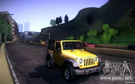 Jeep Wrangler Rubicon 2012 para visión interna GTA San Andreas