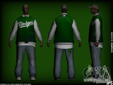 G.R.O.V.E. Skinpack para GTA San Andreas sexta pantalla