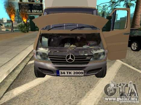 Mercedes-Benz Sprinter para la visión correcta GTA San Andreas