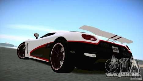 Koenigsegg Agera R 2012 para la visión correcta GTA San Andreas