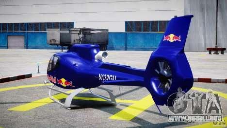 Eurocopter EC130 B4 Red Bull para GTA 4 Vista posterior izquierda