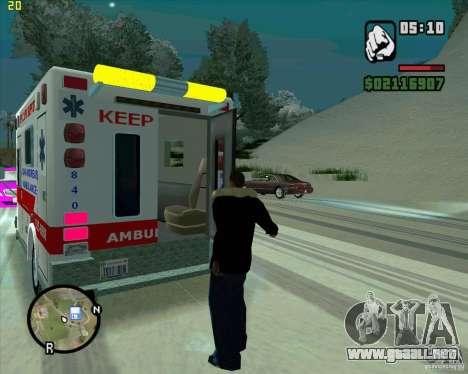 Ambulancia para GTA San Andreas