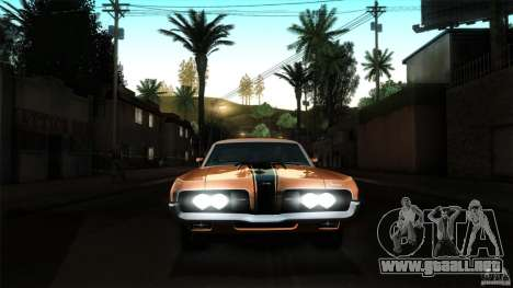 Mercury Cougar Eliminator 1970 para la vista superior GTA San Andreas
