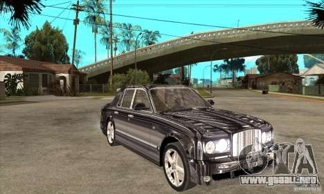 Bentley Arnage T para visión interna GTA San Andreas