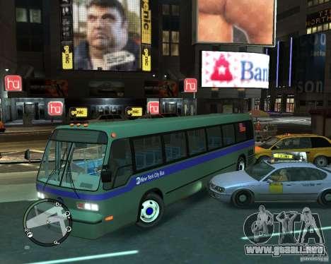 MTA NYC bus para GTA 4 visión correcta