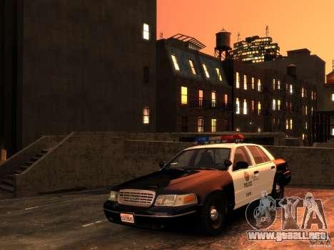 Ford Crown Victoria LAPD v1.1 [ELS] para GTA 4 vista hacia atrás