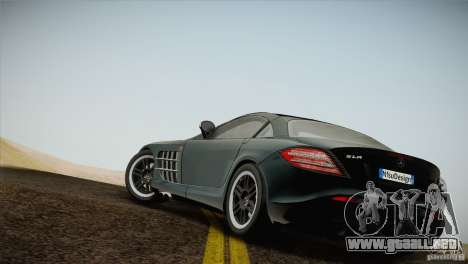 Mercedes SLR McLaren 722 Edition Final para GTA San Andreas left