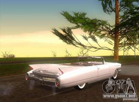 Cadillac Series 62 1960 para GTA San Andreas vista posterior izquierda