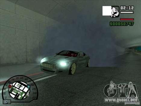 Humo saliendo debajo de las ruedas, como NFS Pro para GTA San Andreas segunda pantalla