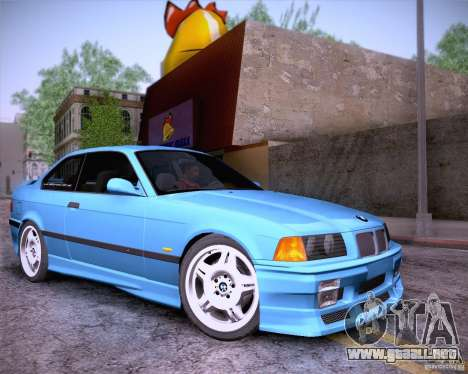BMW M3 E36 1995 para vista lateral GTA San Andreas