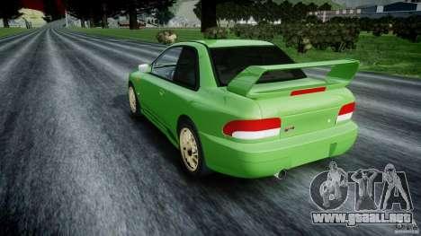 Subaru Impreza 22b 1998 (final) para GTA 4 Vista posterior izquierda