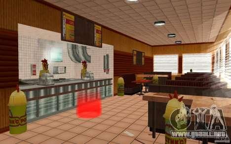 Café Rostics para GTA San Andreas segunda pantalla