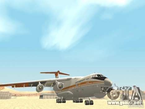 Ilyushin 76 TD (bombero) para GTA San Andreas vista hacia atrás