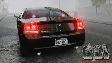 Dodge Charger RT Hemi FBI 2007 para GTA 4 vista lateral