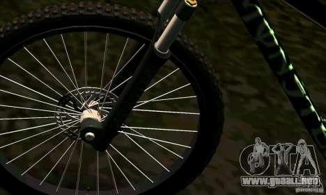 Bicicleta con Monster Energy para la visión correcta GTA San Andreas