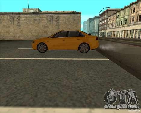 AUDI S4 Sport para GTA San Andreas vista hacia atrás