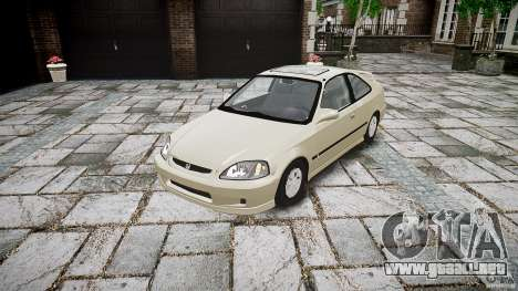 Honda Civic Coupe para GTA 4 vista hacia atrás
