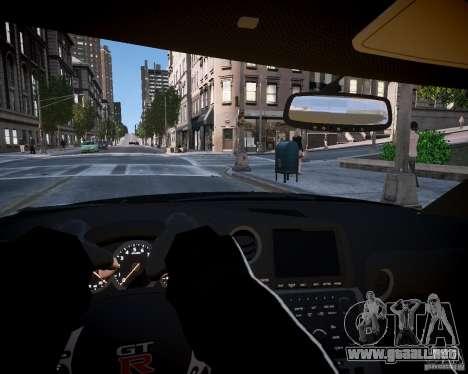 Nissan Spec GT-R Enforcer para GTA 4 vista hacia atrás