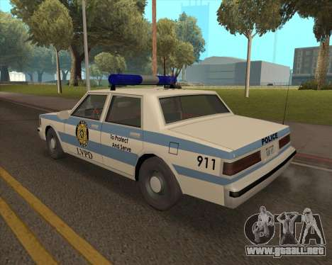 Updated LVPD para GTA San Andreas left