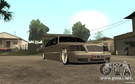 Mercedes-Benz S600 V12 W140 1998 VIP para GTA San Andreas vista hacia atrás