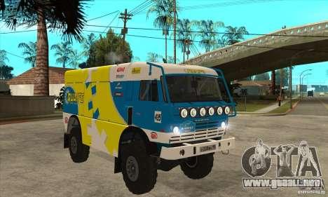 KAMAZ 4911 Rally MASTER para vista lateral GTA San Andreas