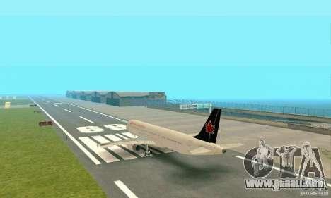 Airbus A321 Air Canada para la visión correcta GTA San Andreas