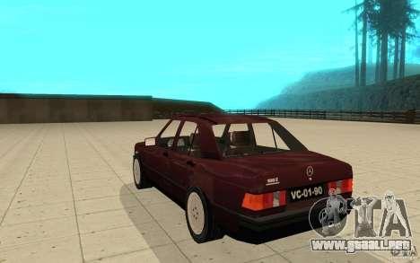 Mercedes-Benz 190 E (W201) 1984 version 1.0 para GTA San Andreas vista posterior izquierda