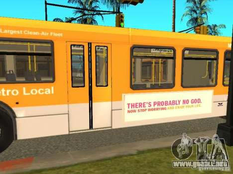 New Flyer D40LF para GTA San Andreas left