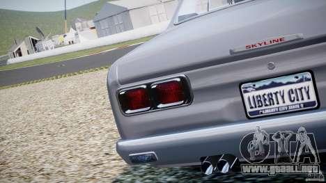 Nissan Skyline 2000 GT-R para GTA 4 vista lateral