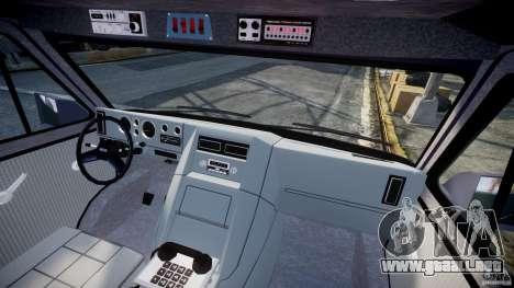 GMC Vandura A-Team Van 1983 para GTA 4 interior