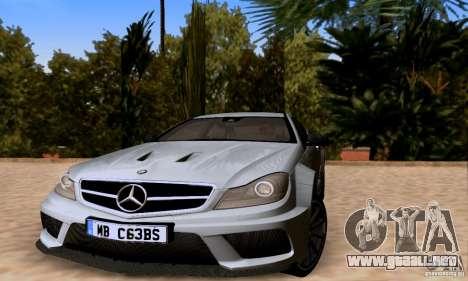 Mercedes-Benz C63 AMG para el motor de GTA San Andreas