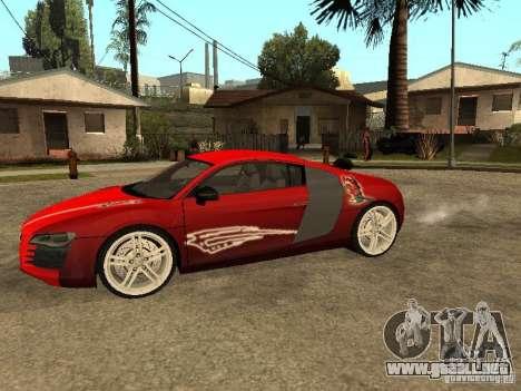 Audi R8 para la vista superior GTA San Andreas